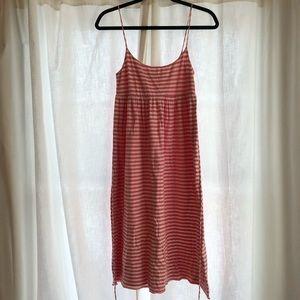 JCrew Cotton Pink Striped Dress